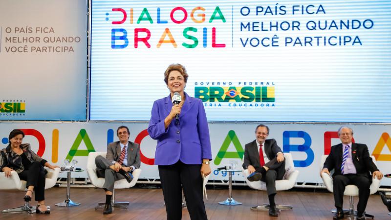 Presidenta Dilma Rousseff durante Lançamento do Dialoga Brasil. Foto: Ichiro Guerra/PR