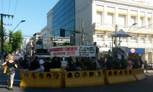 Concursados protesto