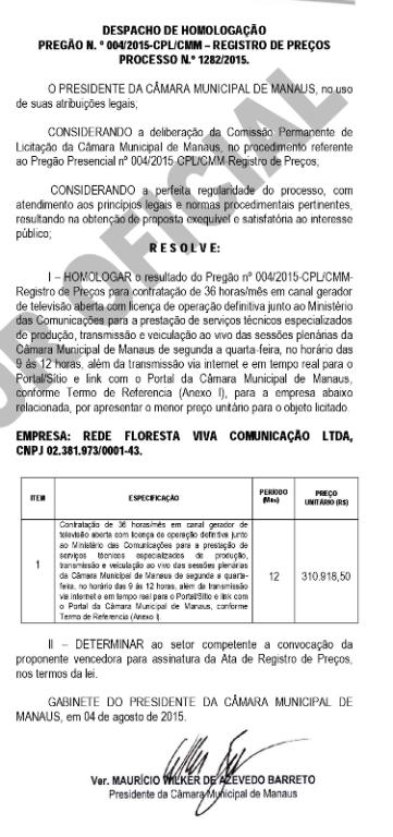 Diário Oficial da CMM