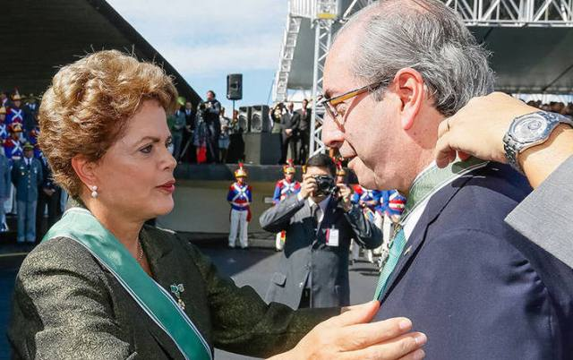 Eduardo Cunha já sinalizou, em nota, que está insatisfeito com a atuação do Palácio do Planalto e do PT no caso da denúncia ao STF (Foto: Roberto Stuckert Filho/PR)