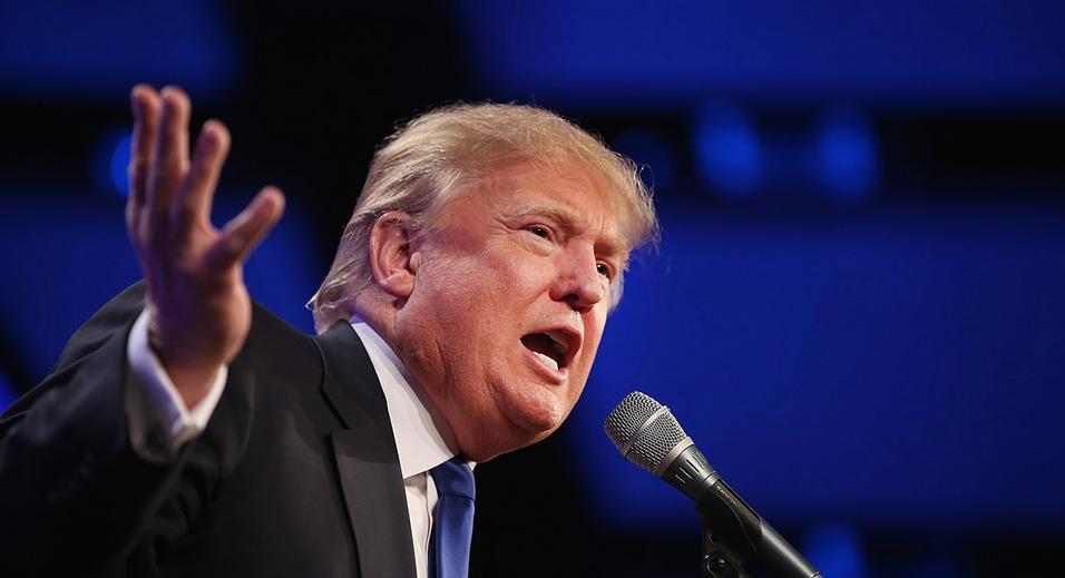 """""""Vocês não estão mais esquecidos', disse Trump falar para uma multidão, do lado de fora do prédio do Lincoln Memorial"""