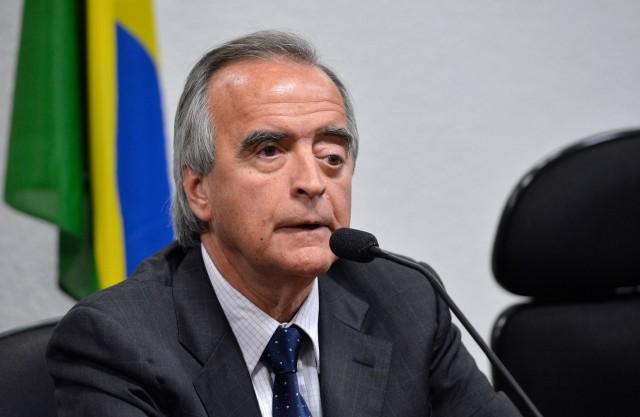Nestor Cerveró durante depoimento na CPMI da Petrobras. Foto: Wilson Dias/ Agência Brasil