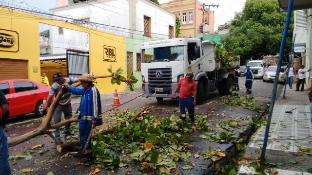Ocorrencias chuva 29-08-2015 Defesa Civil trabalhando Foto Divulgação Semcom