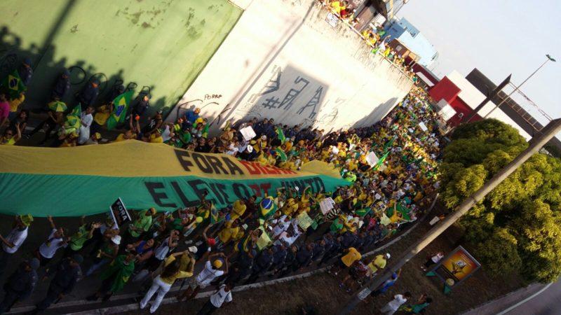 a manifestação em Manaus pela saída da presidente Dilma foi abaixo do esperado