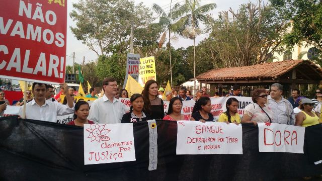 Protesto morte Maria das Dores