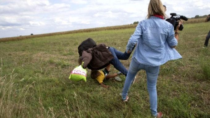 Jornalista hungara Petra Laszlo Foto Reprodução