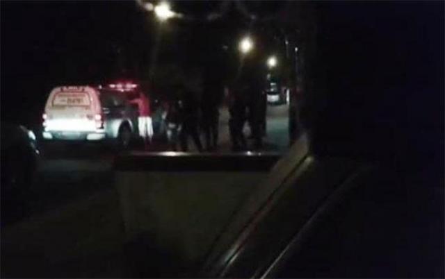 Reprodução do vídeo em que se houve a troca de tiros entre os policiais militares em Itacoatiara