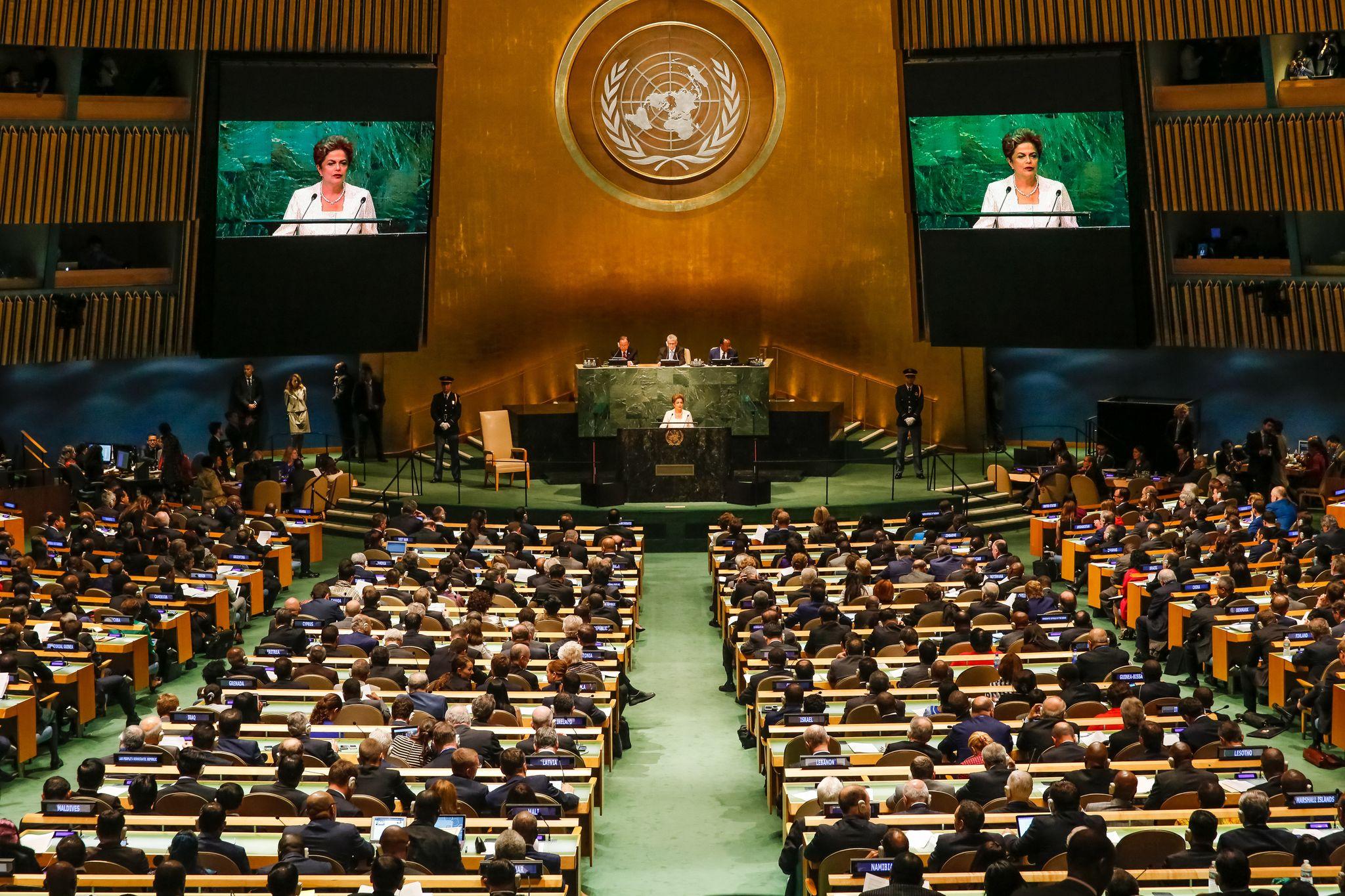 Nova Iorque - EUA, 28/09/2015. Presidenta Dilma Rousseff durante encontro com o Secretário-Geral das Nações Unidas, Ban Ki-Moon. Foto: Roberto Stuckert Filho/PR