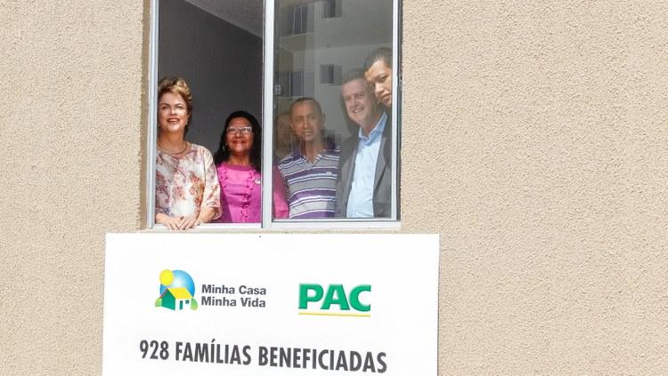 Dilma Entregas de casas Roberto StuckertPR