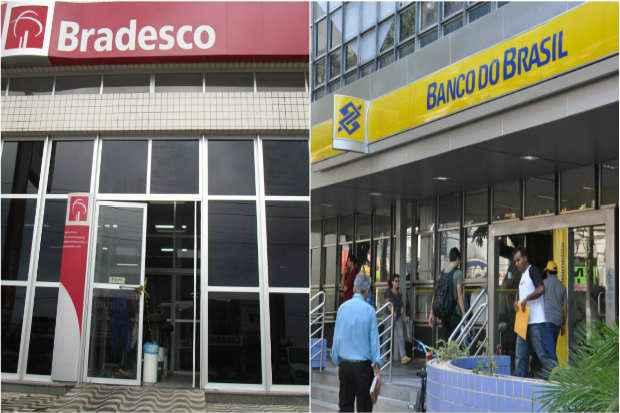 Ao lançar o banco para a baixa renda, Bradesco e BB miram cerca de 160 milhões de brasileiros que recebem até três salários mínimos mensais. FotoArteDP
