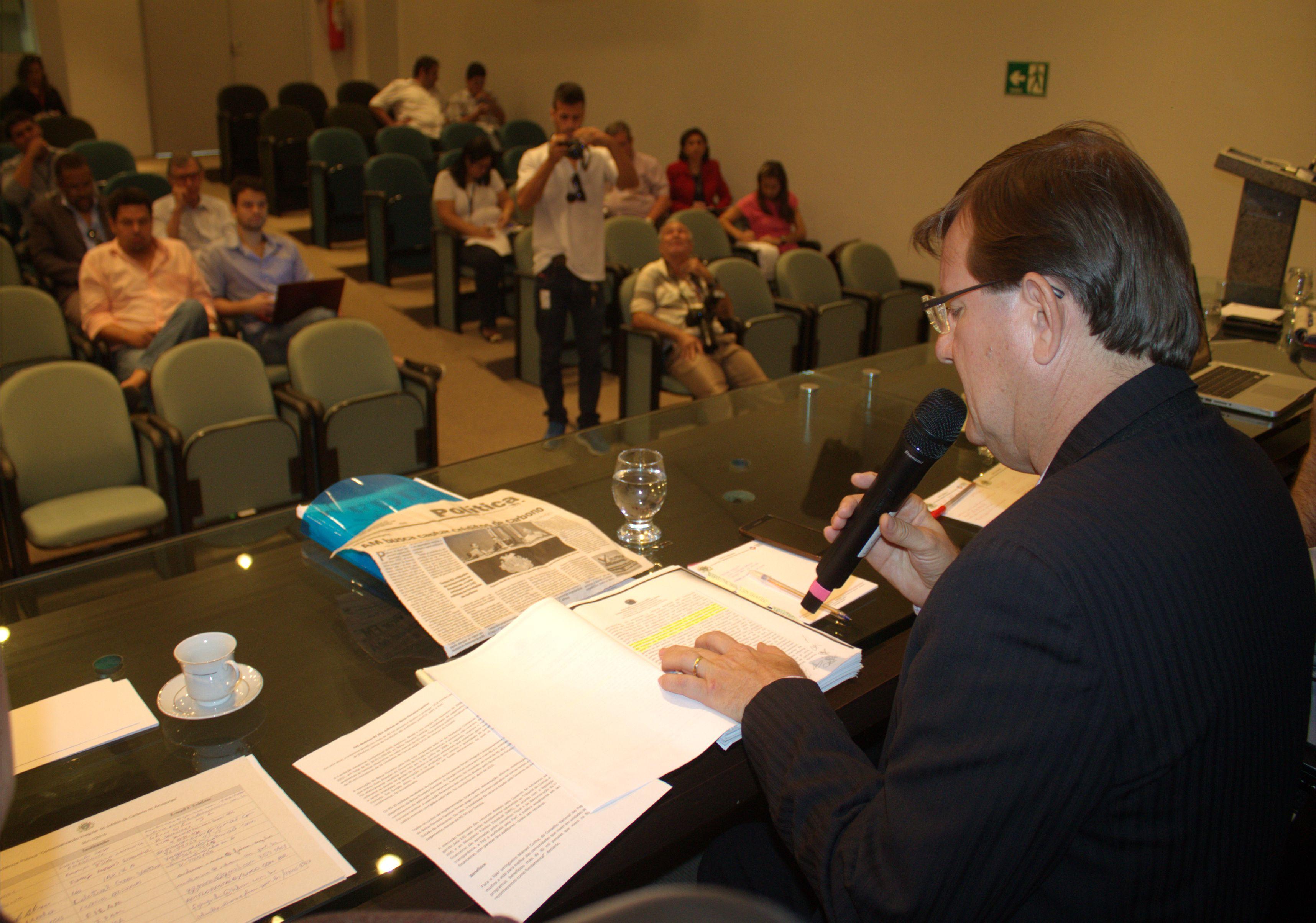 Audiência crédito de carbono José Ricardo Foto Divulgação