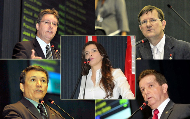 Luiz Castro, José Ricardo, Alessandra Campêlo, Vicente Lopes e Wanderley Dalas: só os cinco assinaram pedido de CPI