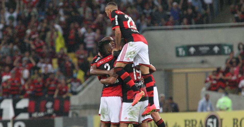Flamengo comemora gol Foto Divulgação