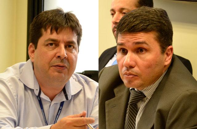 Leandro Almada e Sérgio Fontes: respostas sobre grupo de extermínio (Fotos: Valmir Lima)