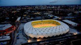 Arena da Amazônia: muito concreto e pouco uso (Foto: Chico Batata/Agecom)