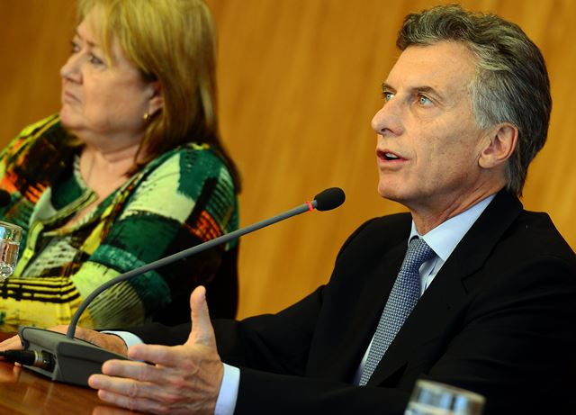 04/12/2015- Brasília- DF- Brasil- Entrevista coletiva do presidente eleito da Argentina, Mauricio Macri, no Palácio do Planalto.