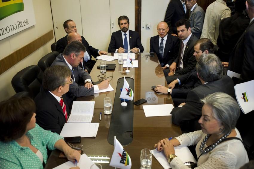 Brasília - A Comissão Executiva Nacional do PMDB se reúne, na Câmara dos Deputados (Marcelo Camargo/Agência Brasil)