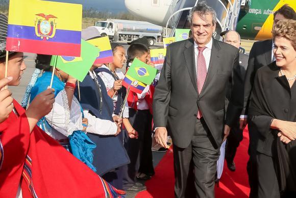 A presidenta Dilma Rousseff na chegada ao EquadorRoberto Stuckert FilhoPR