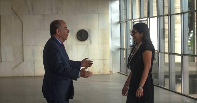 Ministro Mauro Vieira recebe ministra venezuelana Foto Divulgação Ministerio das relações exteriores