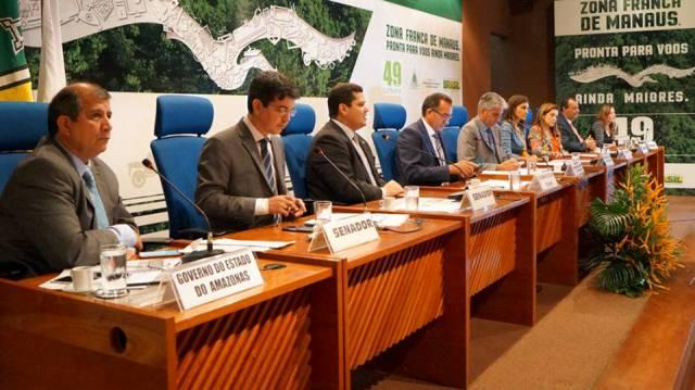 Reunião do CAS nesta sexta-feira, 26, no auditório da Suframa, em Manaus (Foto: Suframa/Divulgação)