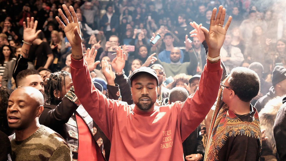 Kanye West PHOTO BY DIMITRIOS KAMBOURIS GETTY IMAGES FOR YEEZY SEASON 3