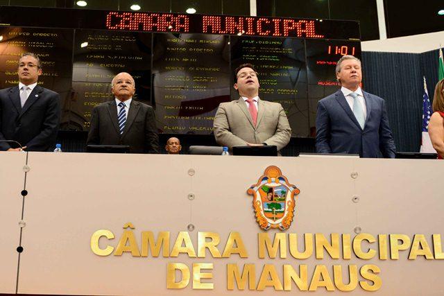 O governador José Melo fez o anúncio do convênio na Câmara Municipal de Manaus (Foto: Valdo Leão/Secom)