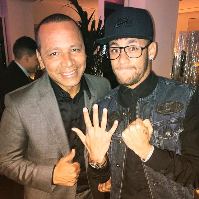 Neymar pai e neymar jr Foto Reprodução