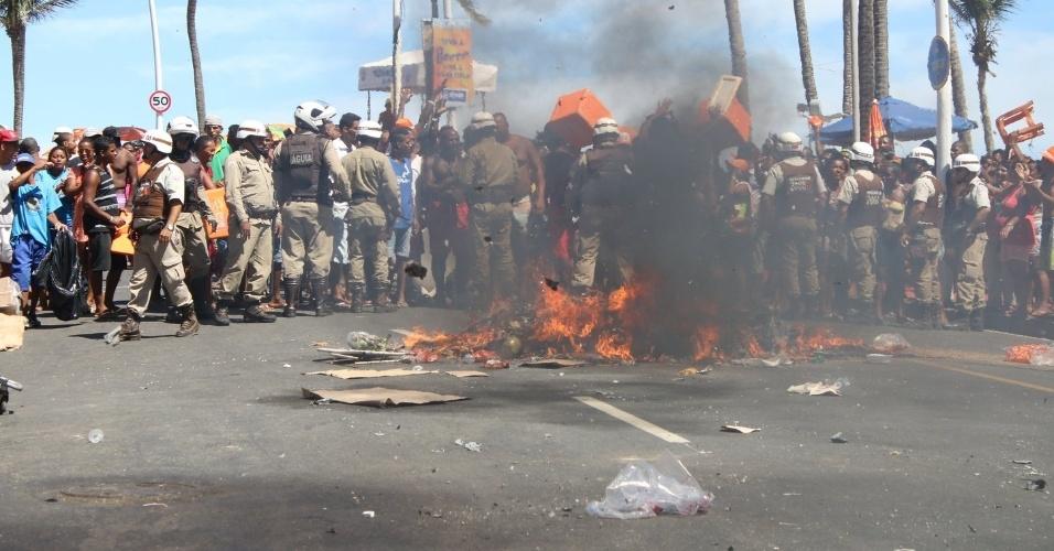protesto ambulantes carnaval salvador Foto Fabio Moreno