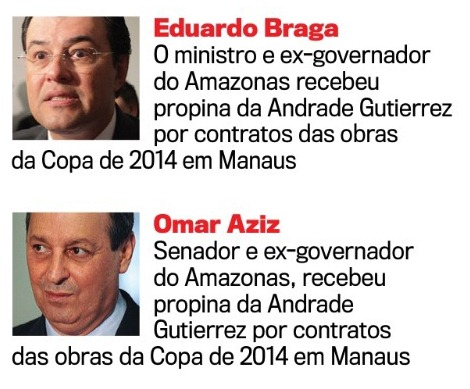 Braga e Omar na lista