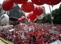 Em ato em São Paulo, CUT diz que impeachment é contra trabalhadores