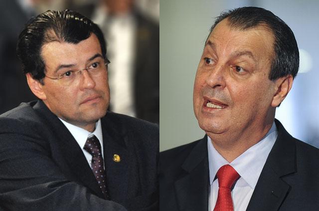 Eduardo Braga licitou a obra e Omar Aziz executou e pagou (Fotos: Divulgação)