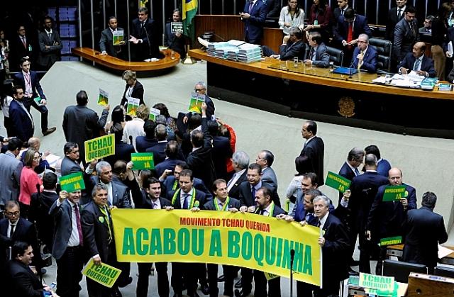 Os ânimos começam a se acirrar dois dias antes da votação do impeachment na Câmara (Foto: Lucio Bernardo Jr/Câmara dos Deputados)
