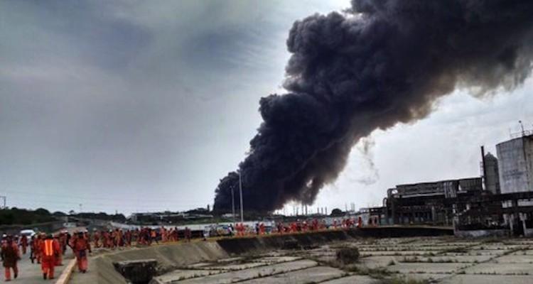 Explosão COATZACOALCOS  México Foto Reprodução Twitter