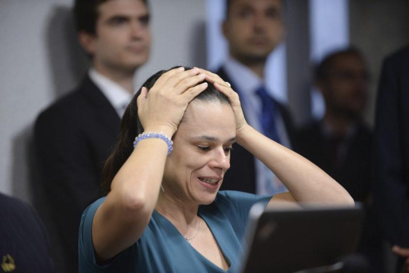 Comissão Especial do Impeachment 2016 (CEI2016) ouve os autores do pedido de impedimento da presidente Dilma Rousseff.   À mesa, jurista Janaína Paschoal  Foto: Jefferson Rudy/Agência Senado