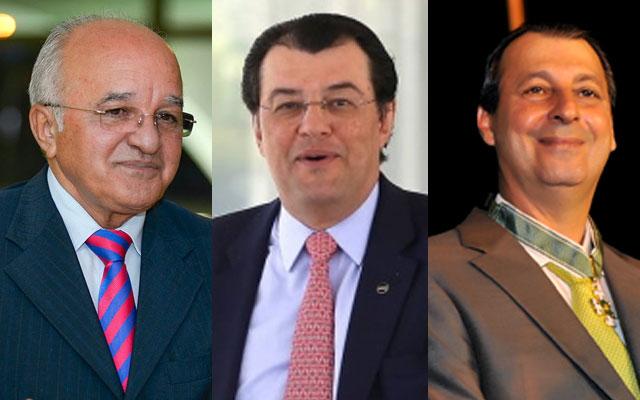 José Melo, Eduardo Braga e Omar Aziz (Fotos: Divulgação)