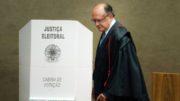 Brasília - O ministro Gilmar Mendes foi eleito hoje (7) o próximo presidente do Tribunal Superior Eleitoral (TSE). Ele vai substituir o atual presidente, Dias Toffoli, a partir de maio (José Cruz/Agência Brasil)