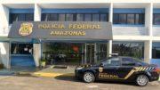 Presos foram levados à sede da PF para interrogatório. Grupo usava nome da própria PF (Foto: Divulgação)