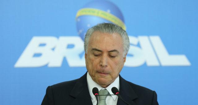 Brasília- DF 16-06-2016    Presidente interino, Michel Temer,  durante pronunciamento a imprensa. Foto Lula Marques/Agência PT