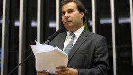 Antes da votação, Maia defendeu as reformas Trabalhista e Previdenciária (Foto: Gustavo Lima/Câmara)