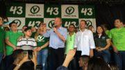 O prefeito Arthur Virgílio Neto participou de encontro do PV para formalizar o apoio à reeleição dele (Foto: Saadya Jezine)