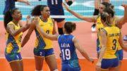 Seleção feminina arrasou a Coreia e agora enfrenta as russas (Foto: Inovafoto/CBV)