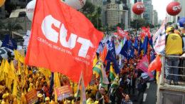 São Paulo - Centrais Sindicais (CUT, CTB, CSP, CGTB, Força Sindical, Intersindical, NCST e UGT) realizam ato Dia Nacional de Mobilização e Luta por Emprego e Garantia de Direitos, na Avenida Paulista (Rovena Rosa/Agência Brasil)