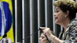 Plenário do Senado durante sessão deliberativa extraordinária para votar a Denúncia 1/2016, que trata do julgamento do processo de impeachment da presidente afastada Dilma Rousseff por suposto crime de responsabilidade.  Em pronunciamento, presidente afastada Dilma Rousseff.   Foto: Geraldo Magela/Agência Senado