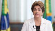 Brasília- DF16-08- 2016  Presidenta Dilma lendo carta aos Brasileiros lado de ex-ministros. Foto Lula Marques/Agência PT