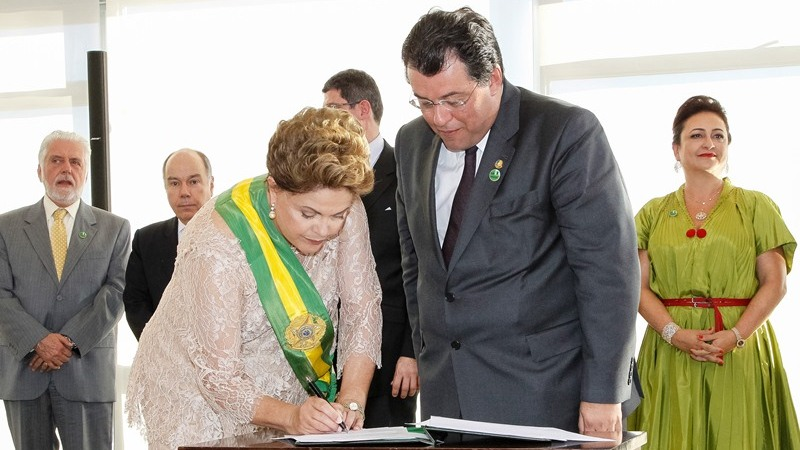 Brasília - DF, 01/01/2015. Cerimônia de posse do segundo mandato da Presidenta da República Dilma Rousseff e do Vice-Presidente da República Michel Temer. Foto: Roberto Stuckert Filho/PR.