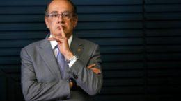 Brasília - O presidente do Tribunal Superior Eleitoral (TSE), Gilmar Mendes, participa do lançamento do Siele - Sistema de Informações Eleitorais (Marcelo Camargo/Agência Brasil)