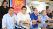 Guto Rodrigues (primeiro à esquerda) declarou ao juiz que o PPS fica com Arthur Neto (Foto: Divulgação/PPS)