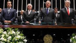 Brasília - DF, 31/08/2016. Presidente Michel Temer durante sua posse no Senado Federal. Foto: Beto Barata/PR