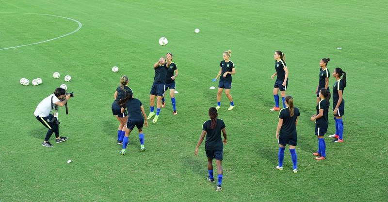 Seleção treinou na tarde de ontem e joga nesta terça-feira, em Manaus, pela Rio 2016 (Foto: Joel Arthus/Secom)