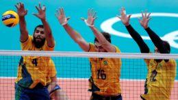 Brasil perdeu a final do vôlei masculino para a Rússia, de virada, por 3 sets a 2 e ficou com medalha de prata (Foto Inovafoto/CBV)